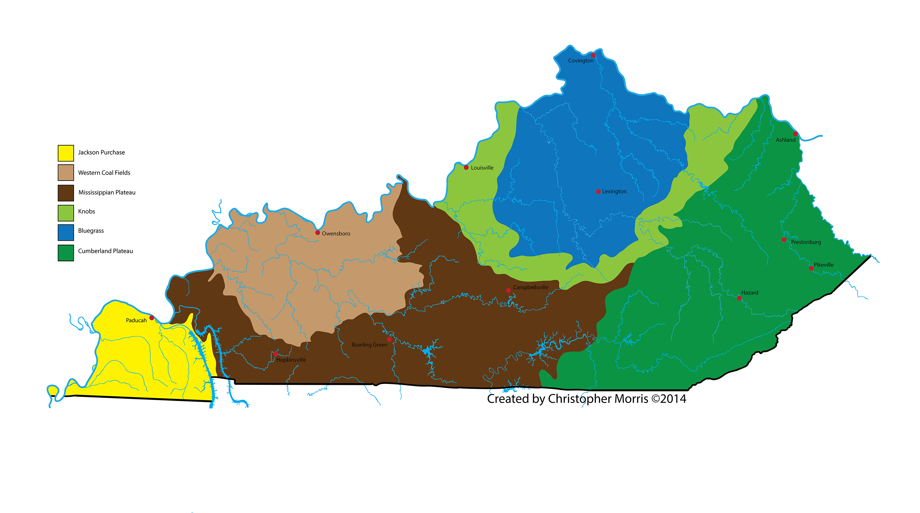 Geographical Map Of Kentucky MAP - Kentucky map enchanted learning